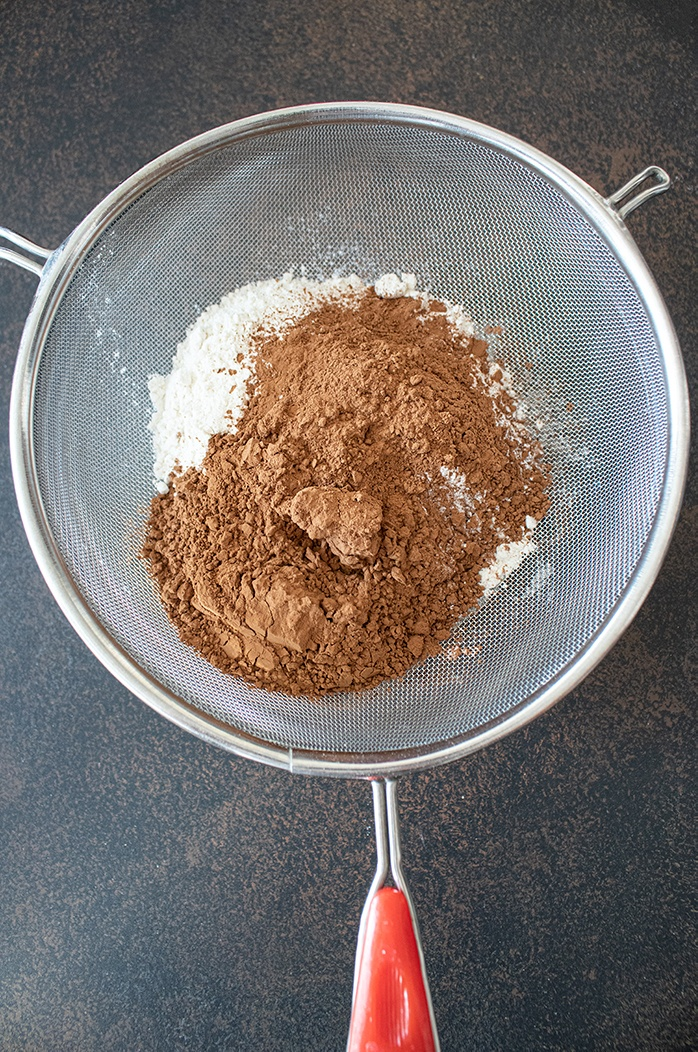 Sift dry ingredients togther