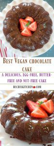 Vegan Chocolate Cake - Ruchiskitchen.com