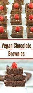 Vegan Chocolate Brownies - Ruchiskitchen