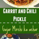 Instant Carrot Chili Pickle - Ruchiskitchen