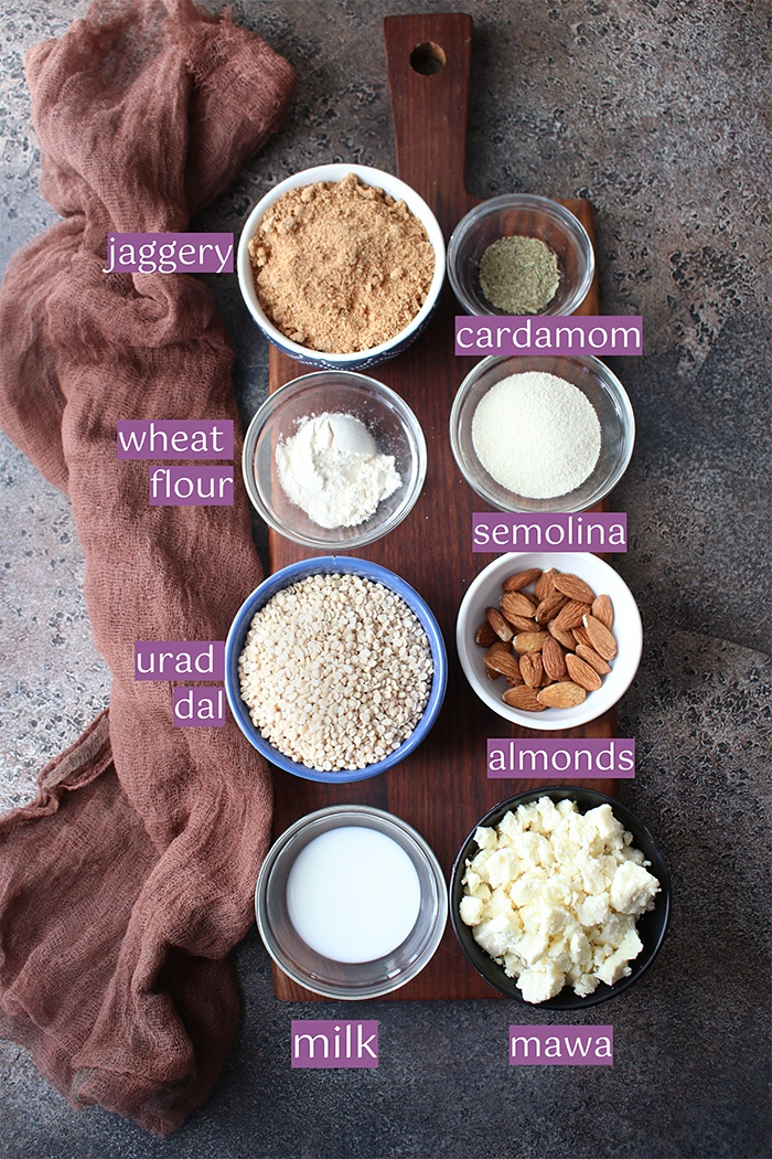 Ingredients for Urad dal ki pinnie
