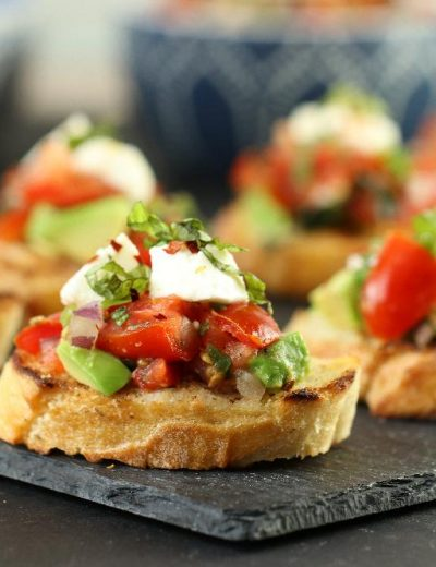 Easy Avocado Bruschetta Recipe