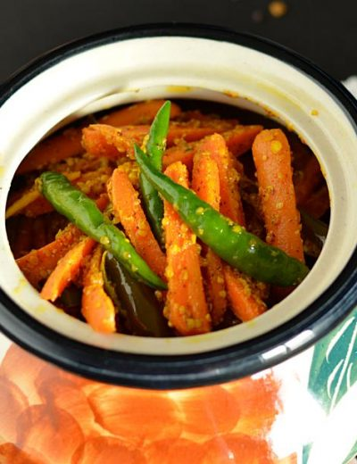 Instant Carrot Chili Pickle