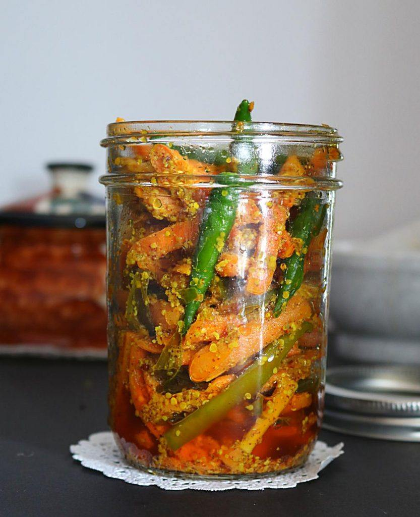 Instant Carrot Chili Pickle - Ruchiskitchen