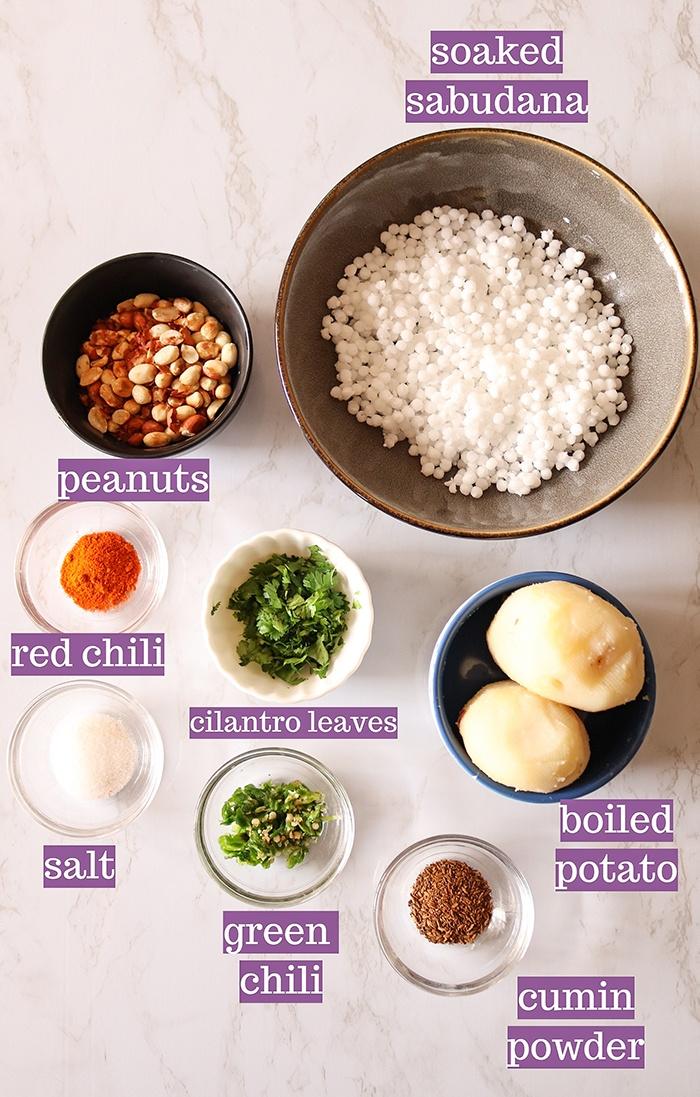 Ingredients for Sabudana Vada