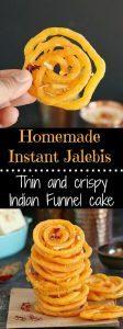 Homemade Instant Jalebis - Ruchiskitchen