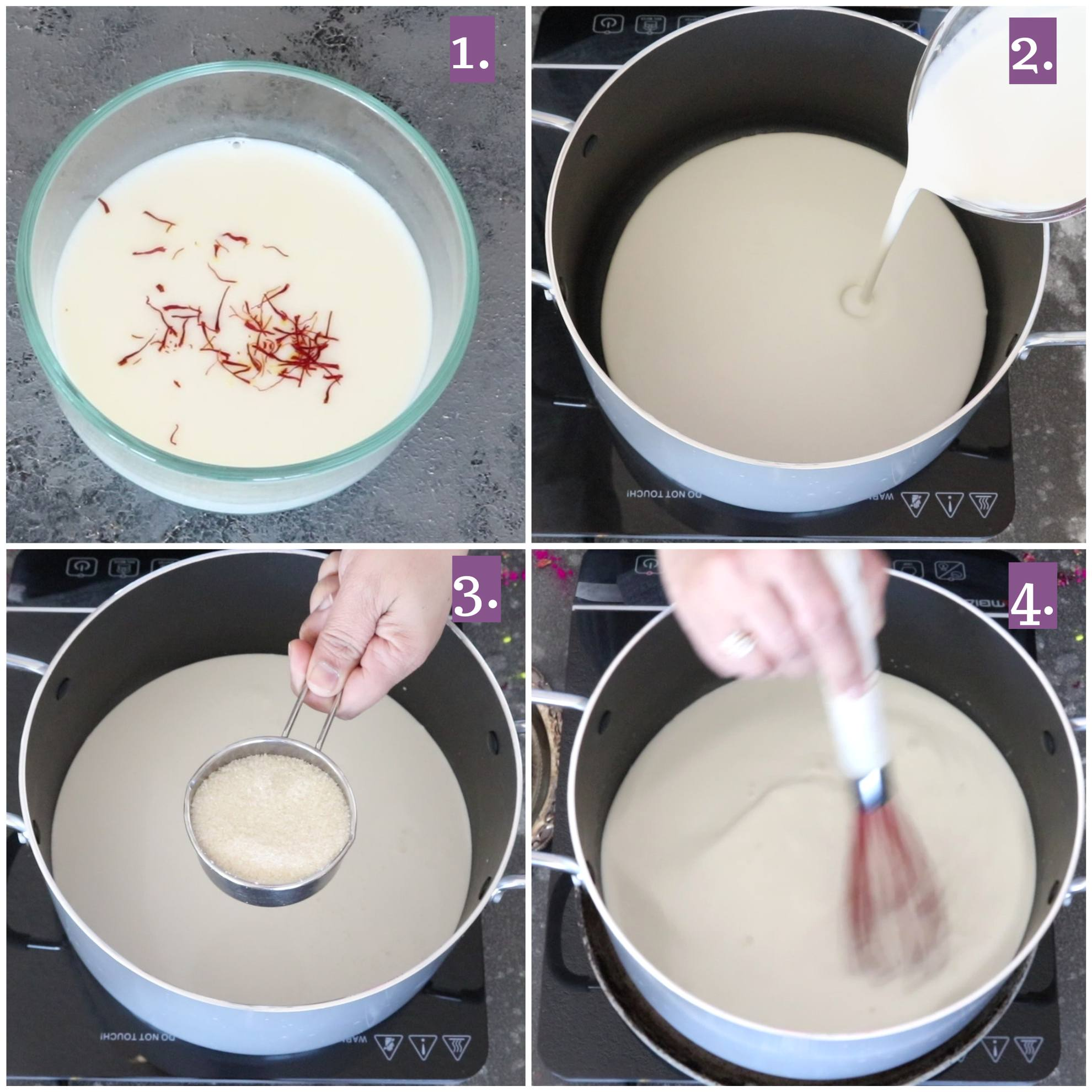 How to make Thandai recipe - boil milk
