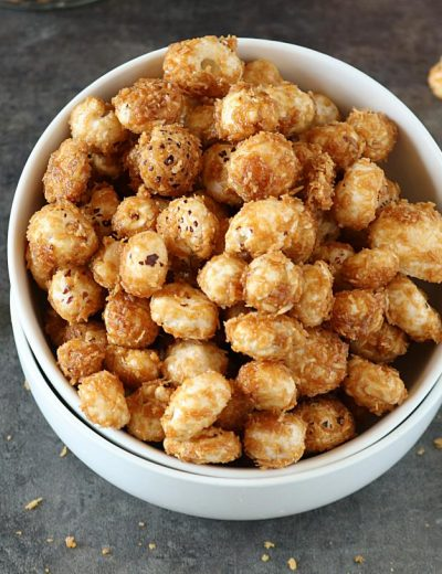 Gur Makhane or Jaggery Caramelized Lotus Seeds