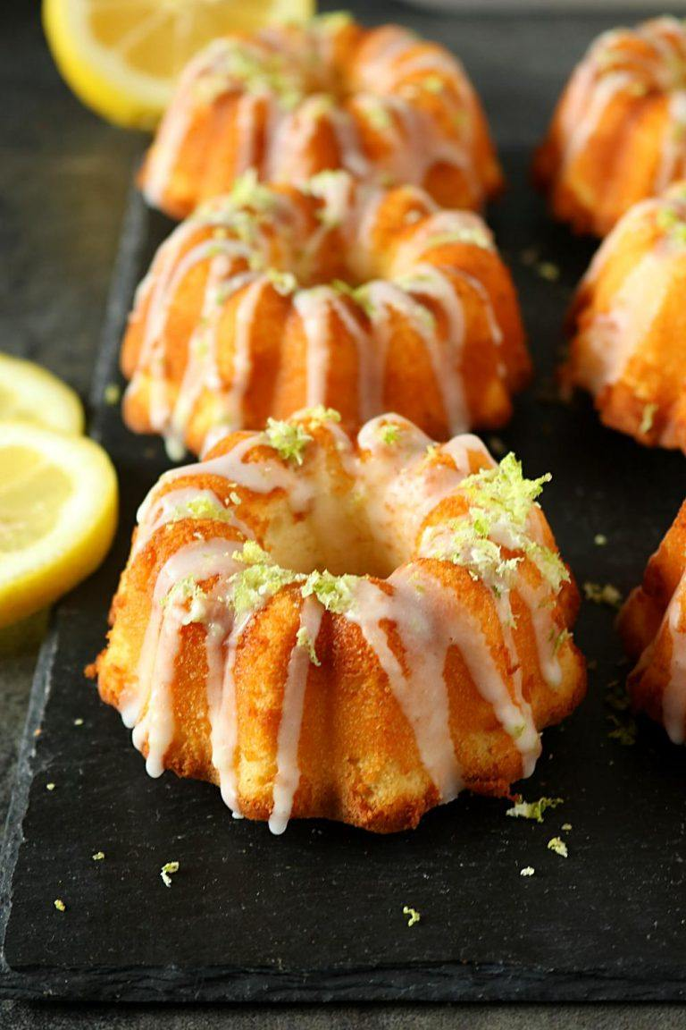 Mini Lemon Bundt Cakes Mini Lemon Bundtlette How To Make