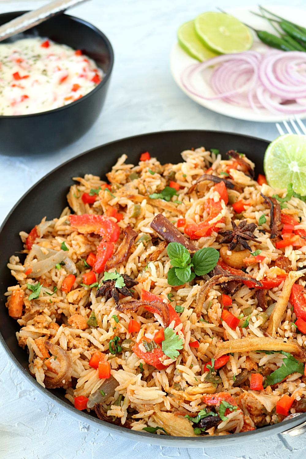 Shahi vegetable biryani- Ruchiskitchen
