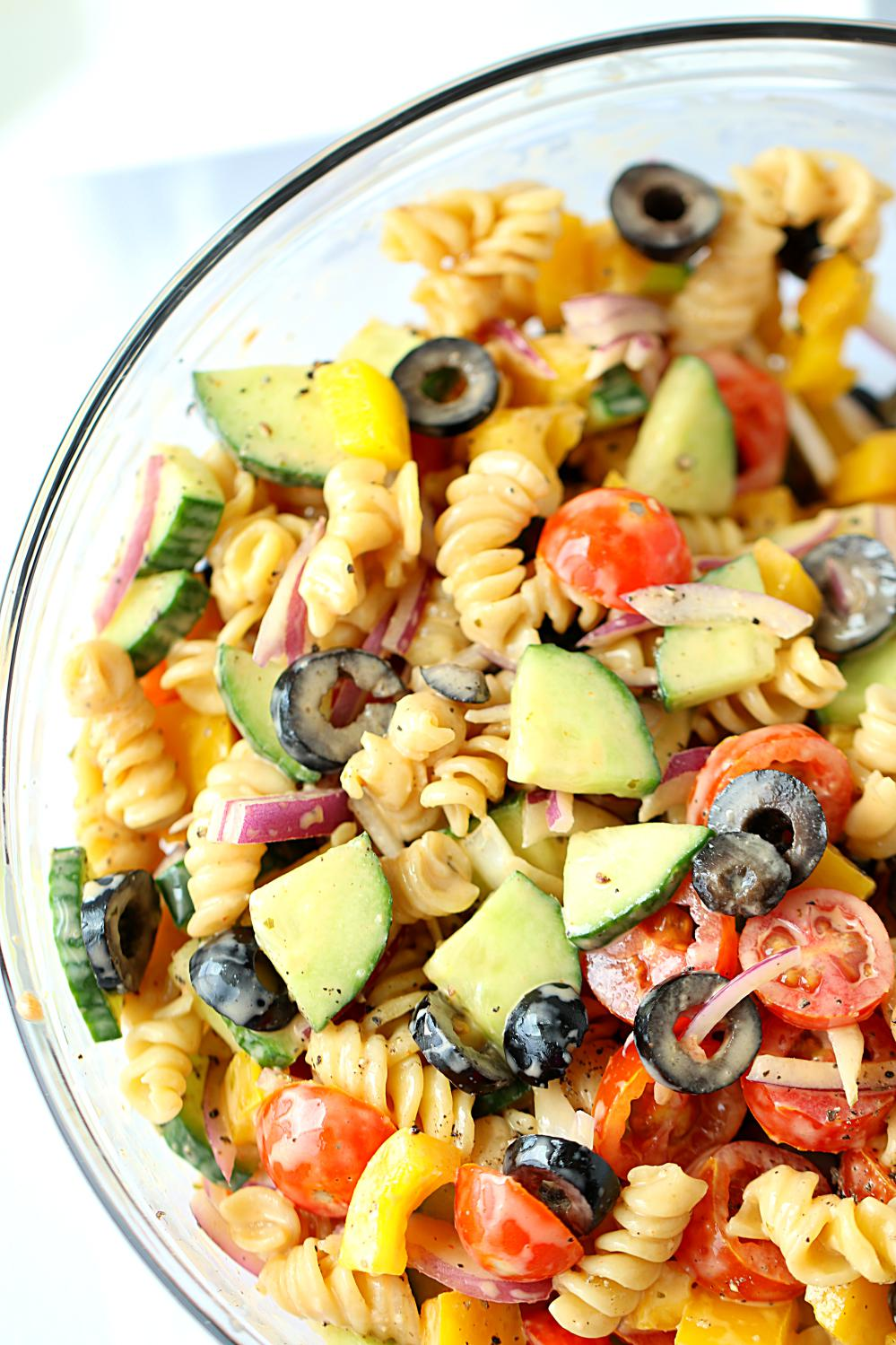 20 Minute No Cook Healthy Pasta Salad | ruchiskitchen.com
