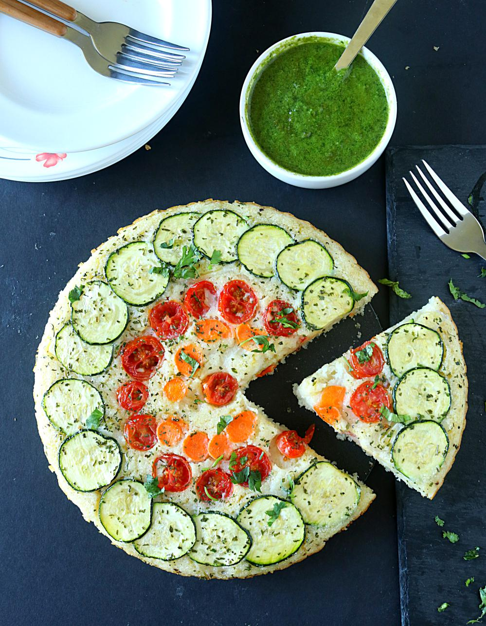 Crustless Veggie Quiche | ruchiskitchen.com