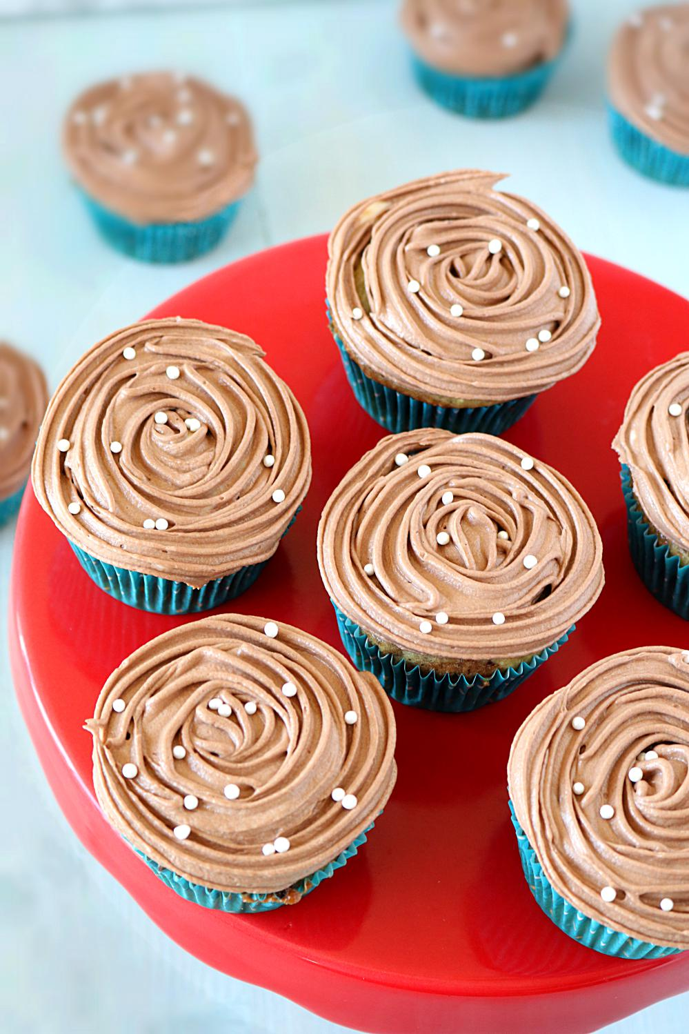 Eggless Marble Cupcakes - www.ruchiskitchen.com