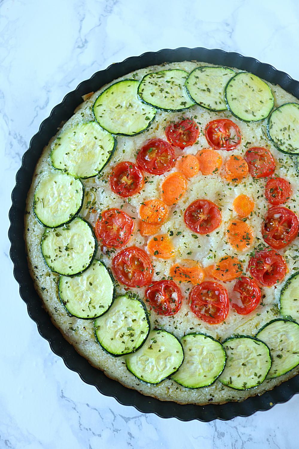 Crustless Veggie Quiche | ruchiskitchen.com