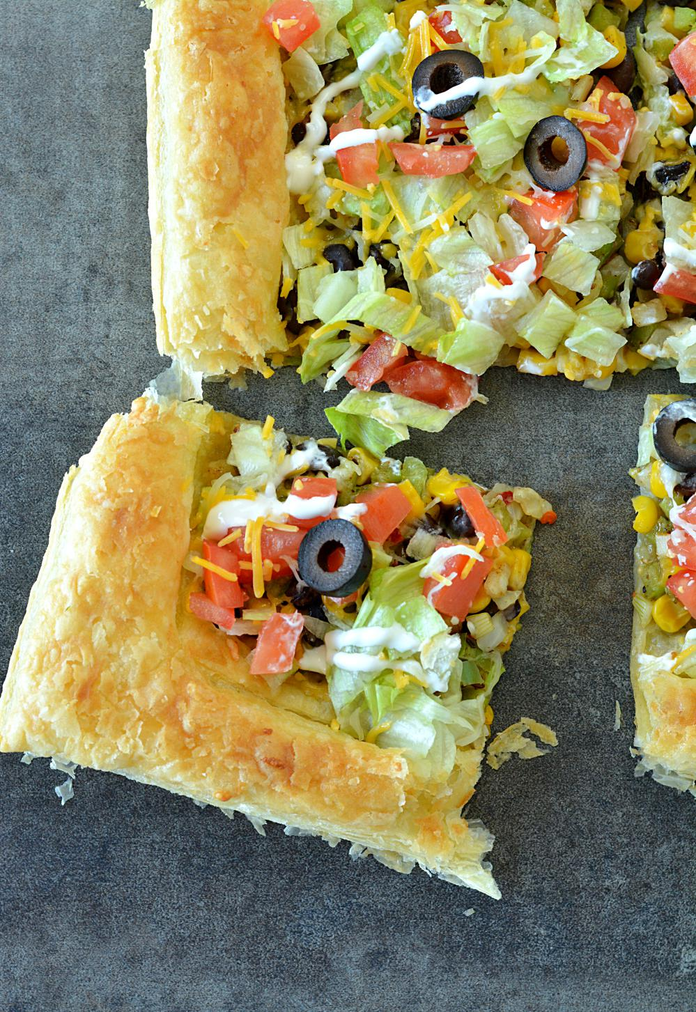 Step by Step Easy Puff Pastry Taco Pizza