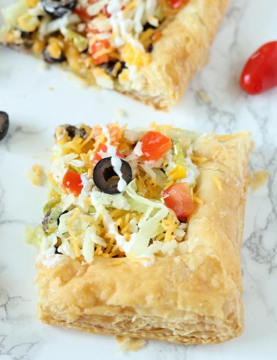 Easy Puff Pastry Taco Pizza