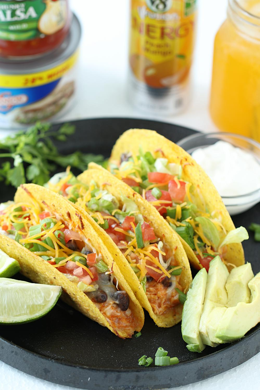 Chicken and Bean Tacos