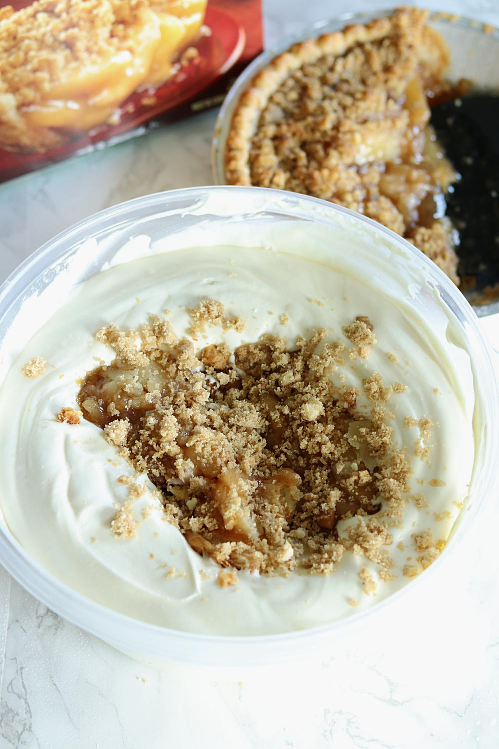 No Churn Apple Pie Ice Cream Step By Step No Churn Summer