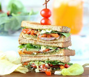 Summer Veggie Sandwiches with Pesto - Ruchiskitchen