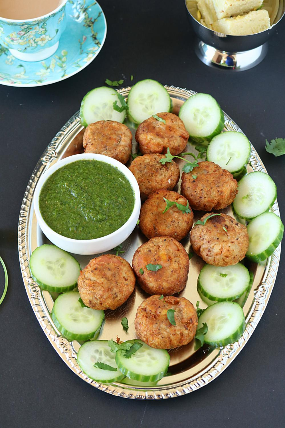 Raw banana or plantain tikki or kebab