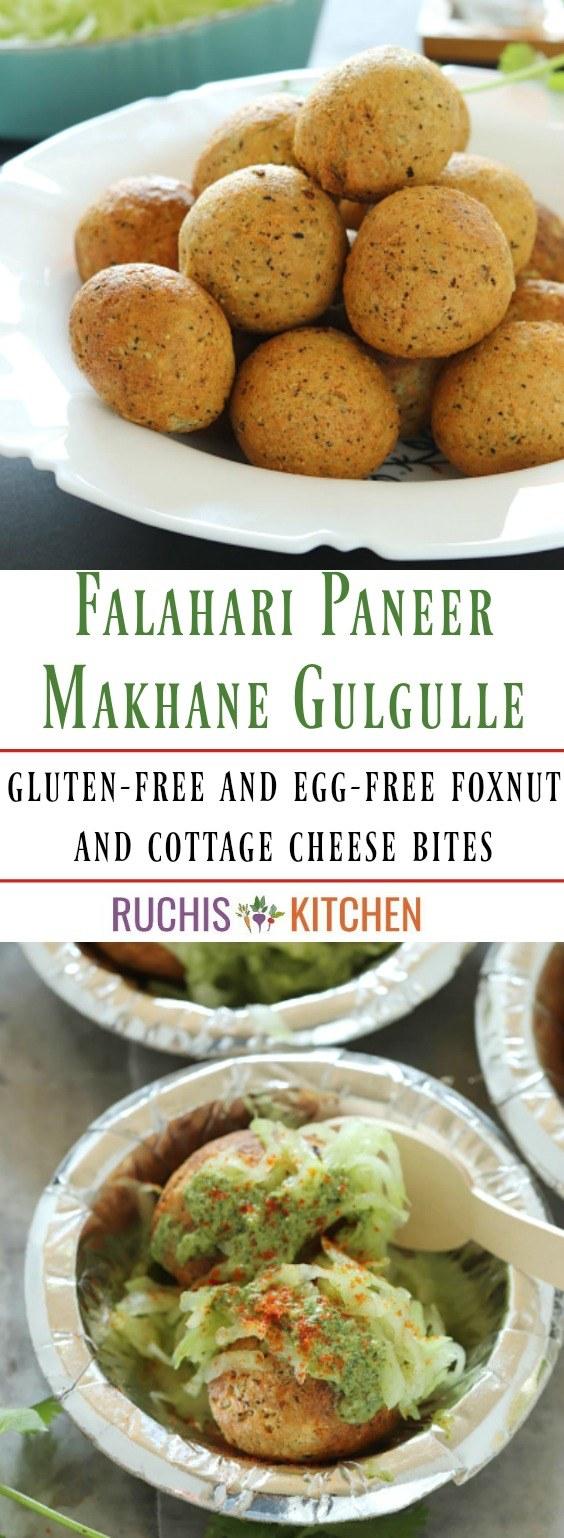 Falahari Paneer Makhane Gulgulle - Ruchiskitchen