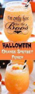 Halloween Orange Sherbet Punch - Ruchiskitchen