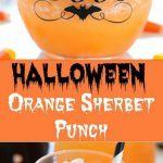 Halloween Orange Sherbet Punch - Ruchiskitchen