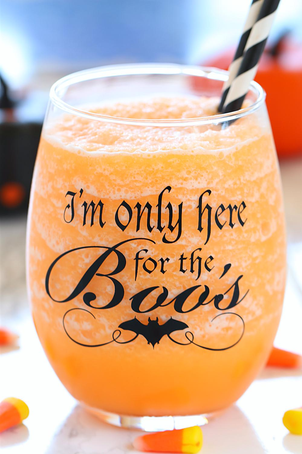 Halloween Punch in a goblet