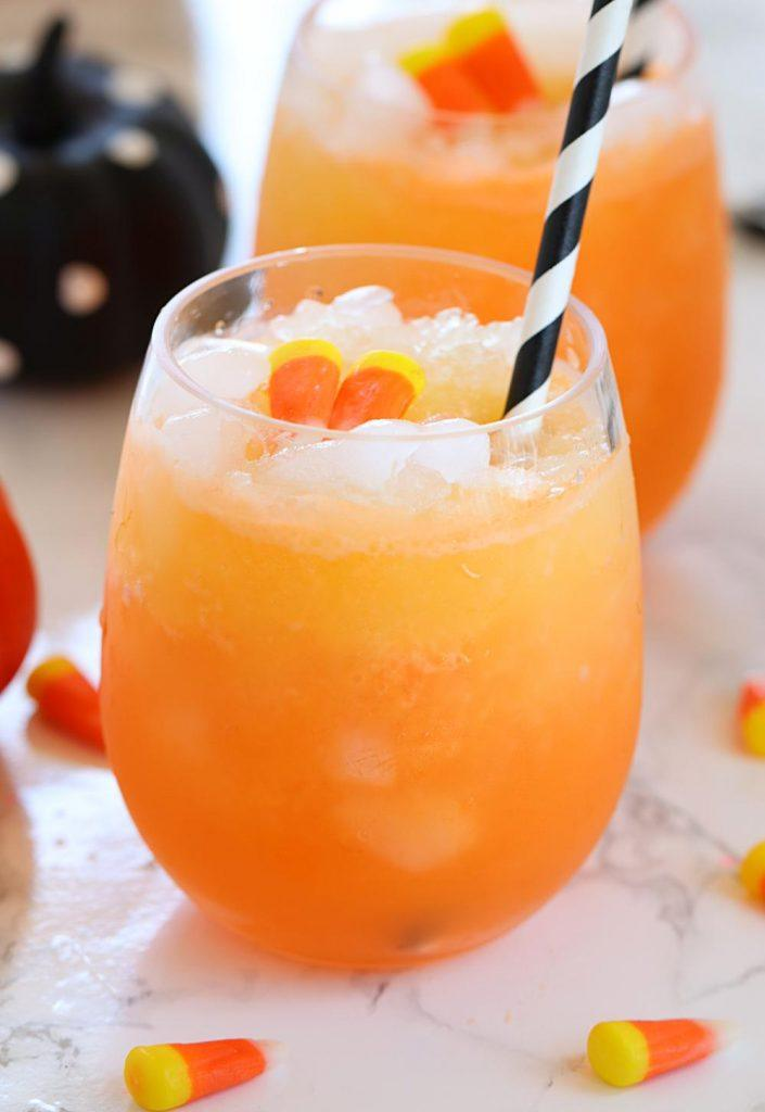 Orange drink for Halloween