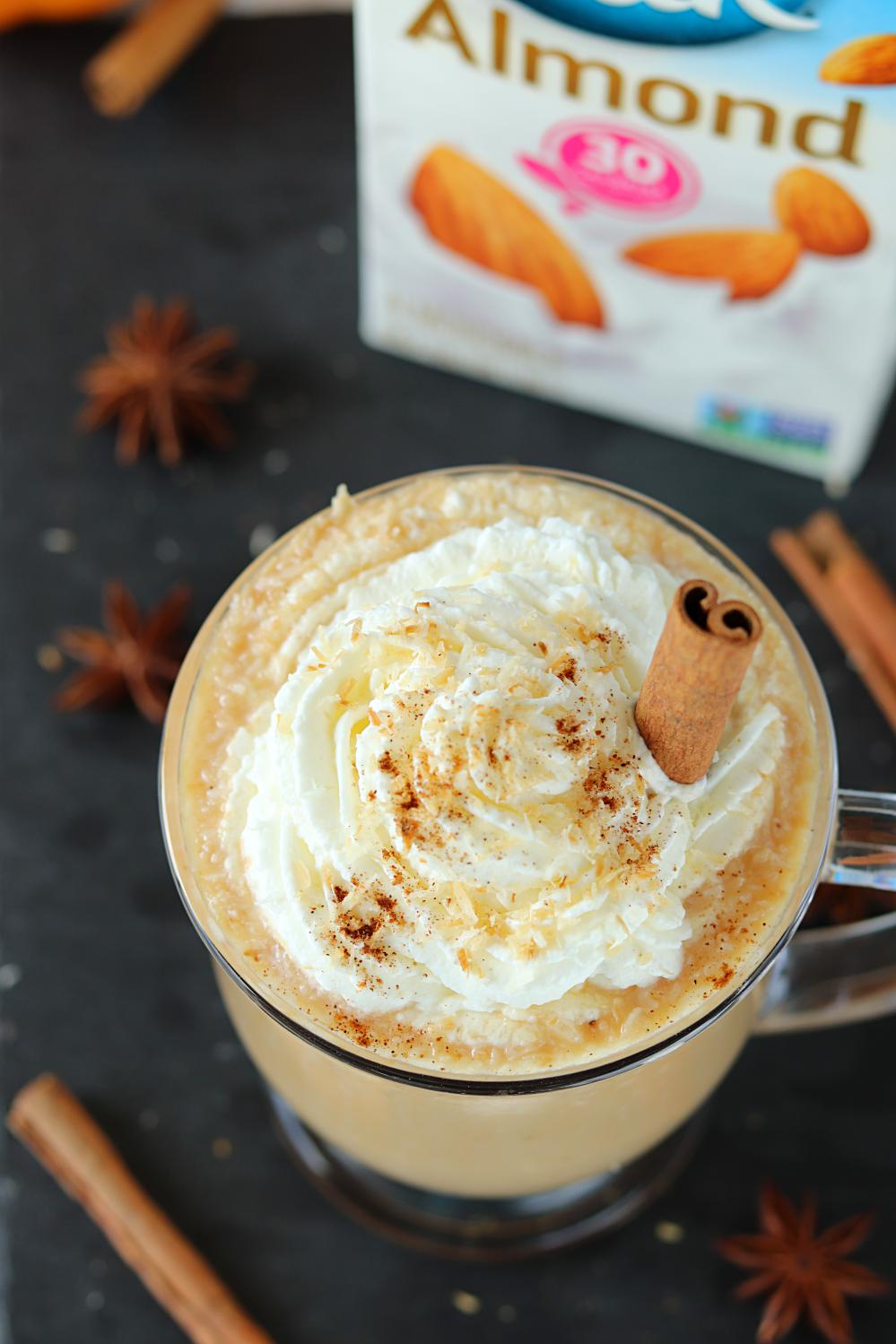Toasted Coconut Pumpkin Spice Latte