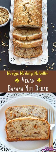 Vegan Banana Nut Bread - Ruchiskitchen