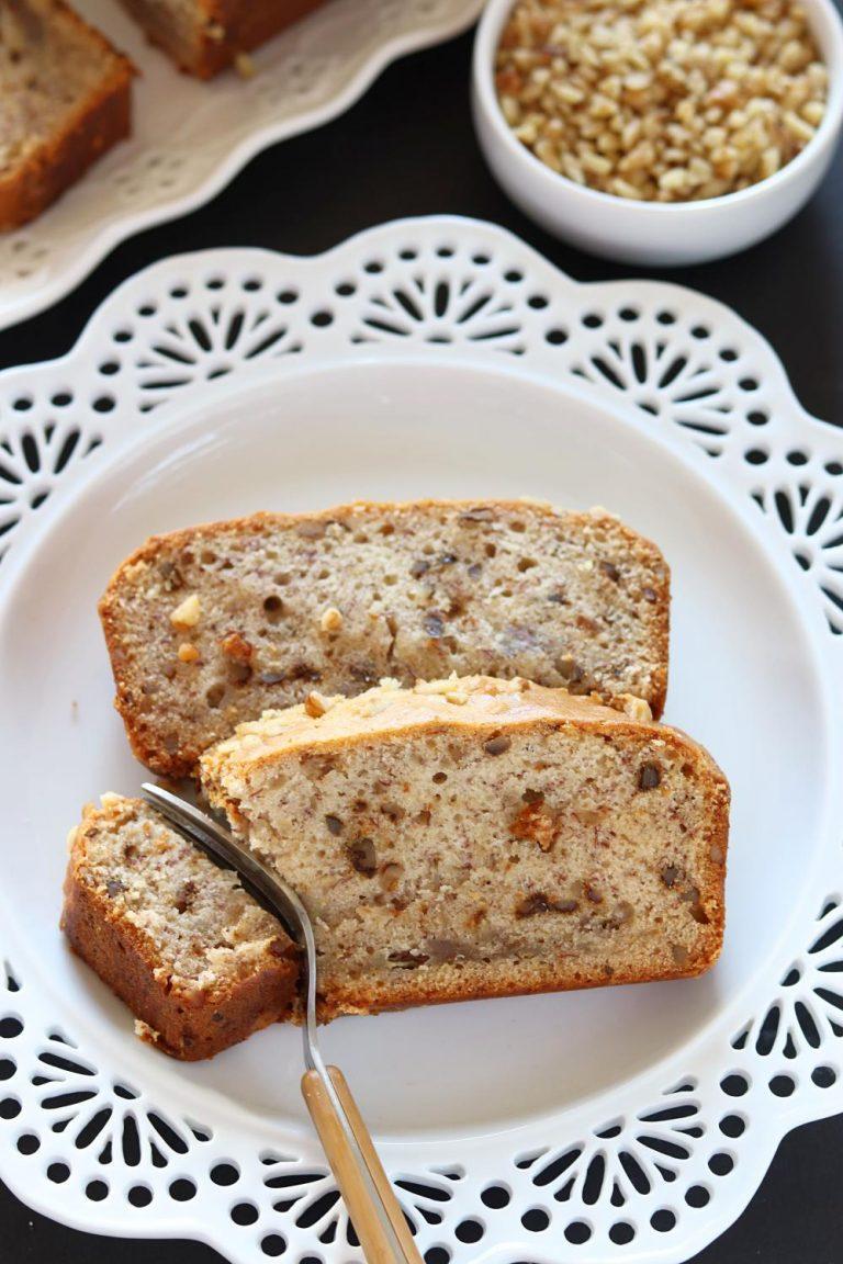 Vegan Banana Nut Bread Healthy Banana Walnut Loaf Bread