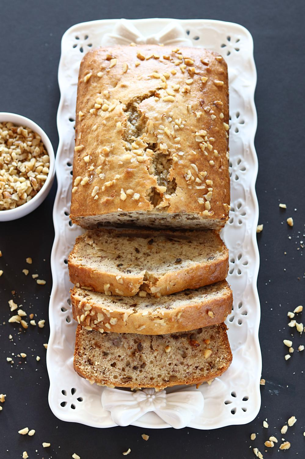 Vegan Banana Nut Bread - Ruchiskitchen