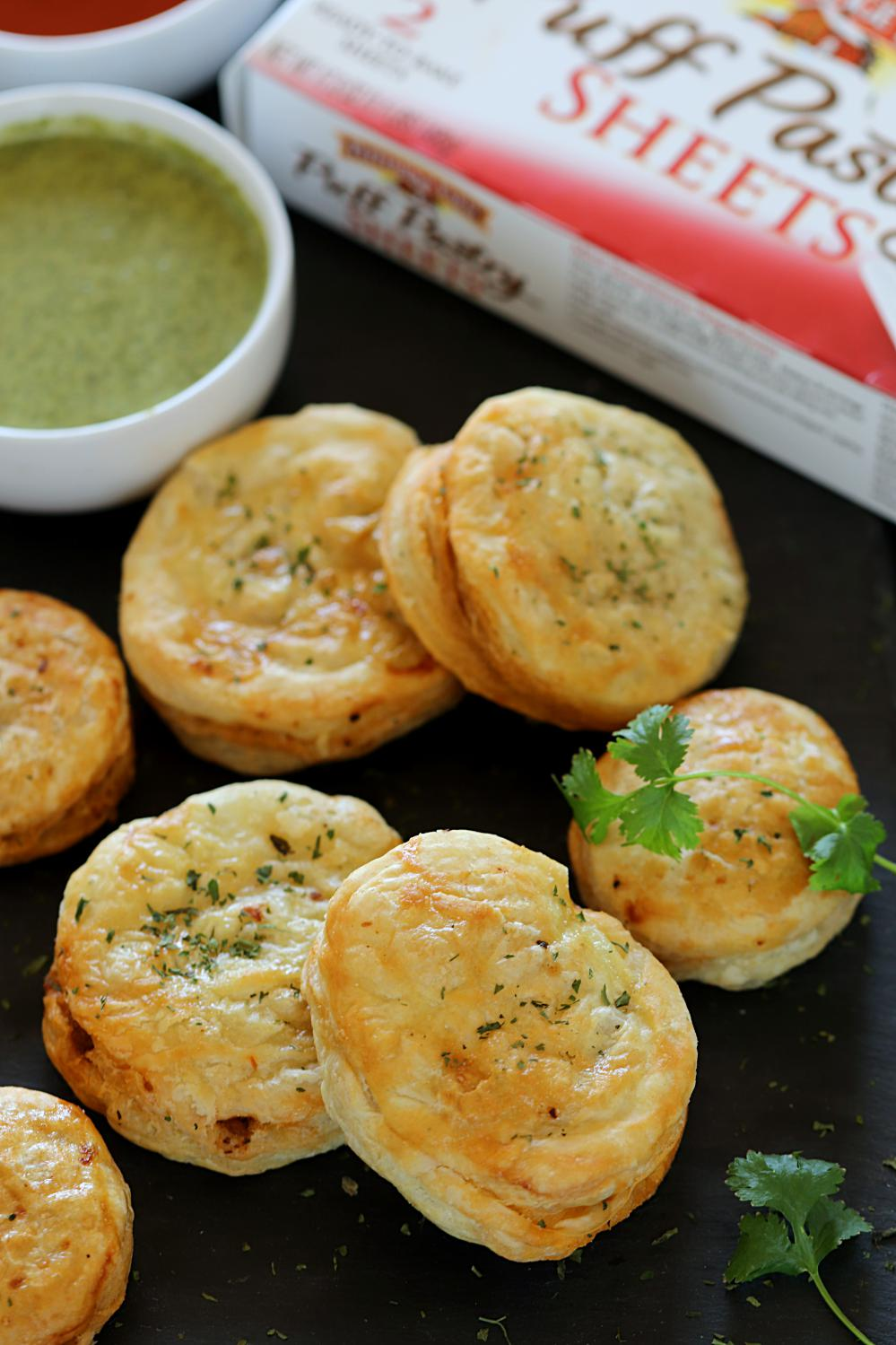 Minced Chicken Puff Pastry - Ruchiskitchen