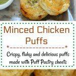 Keema Stuffed Puff Pastry - Ruchiskitchen