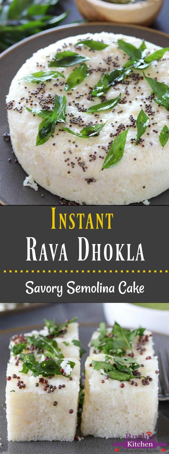 Instant Rawa Dhokla or Khatta Dhokla - Ruchiskitchen