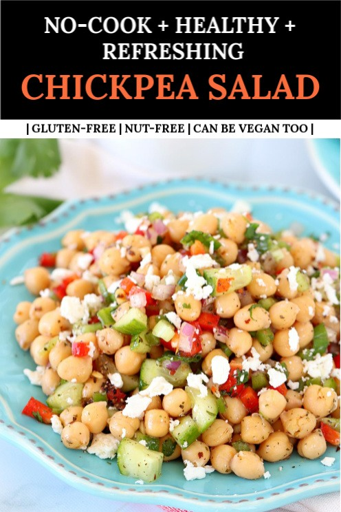Healthy Dinner chickpea Salad