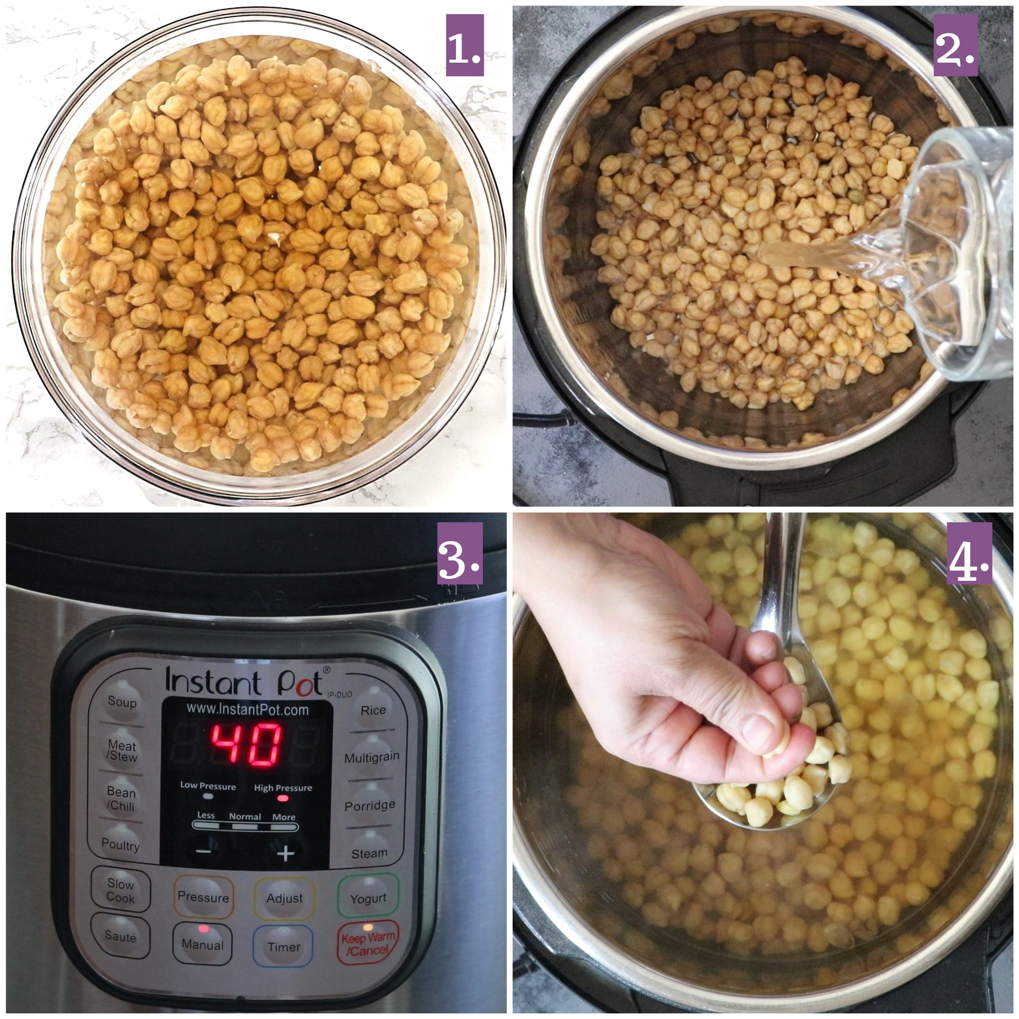 How to boil chickpeas in an Instant Pot