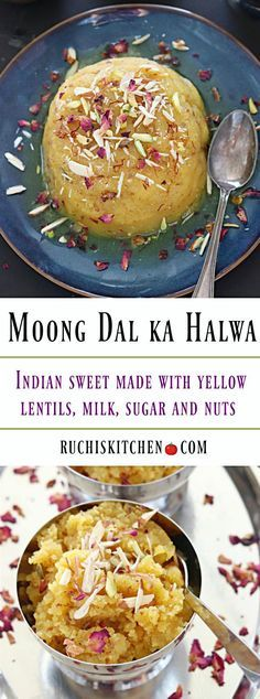 Moong Dal ka Halwa-Ruchiskitchen