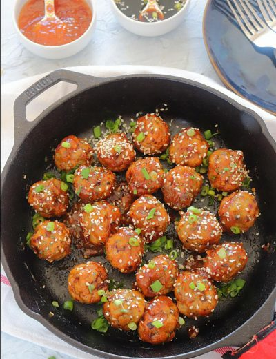 Baked Teriyaki Chicken Meatballs