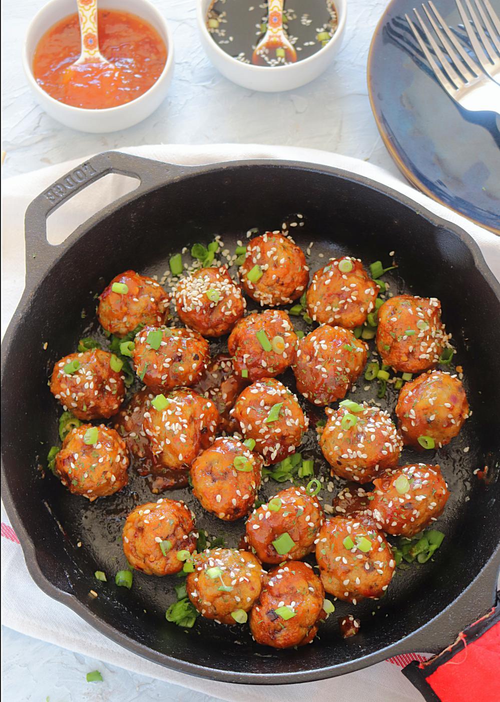 Baked Teriyaki Chicken Meatballs