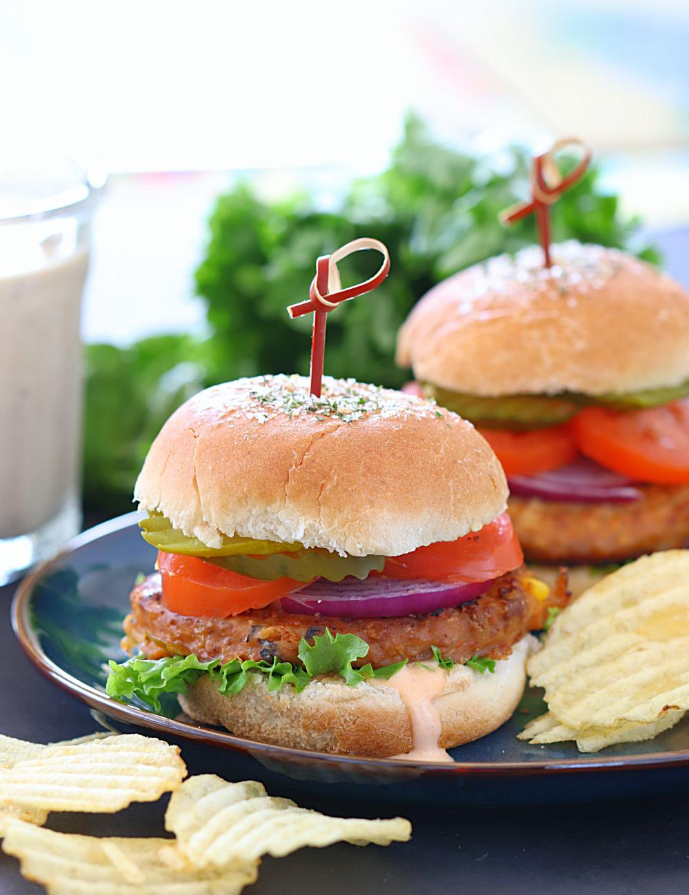 Sun Dried Tomato Chickpea Sliders