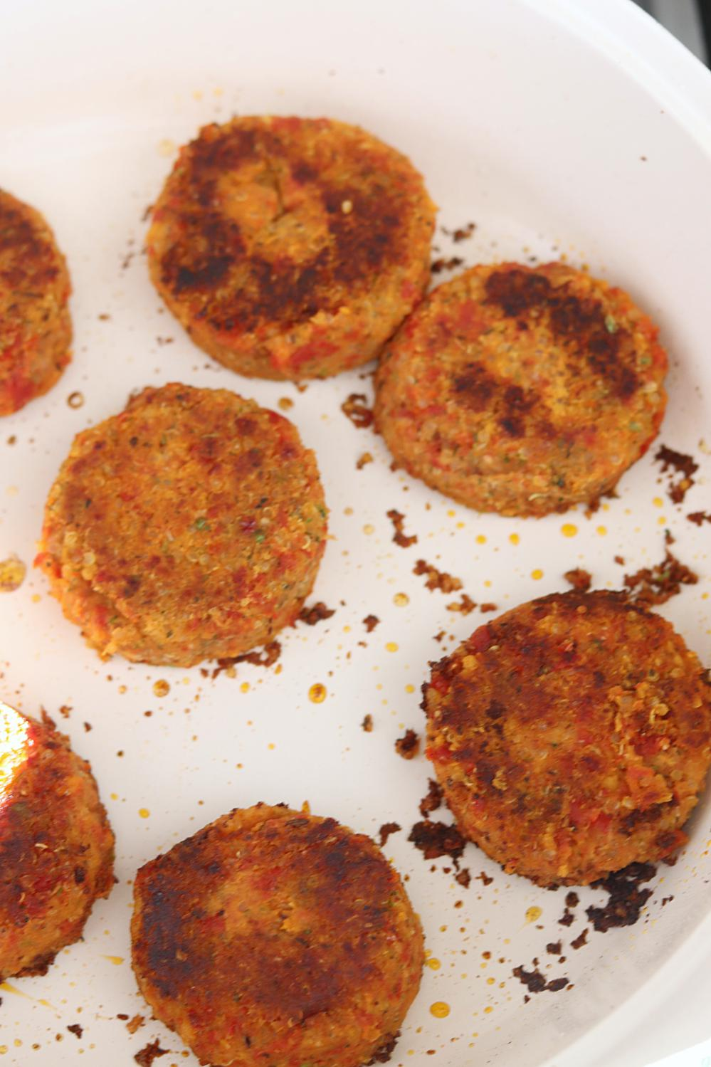 Cook the chickpea patties