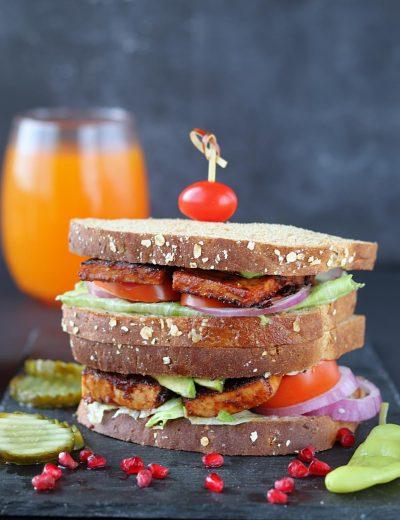Vegan BBQ Tofu Sandwich
