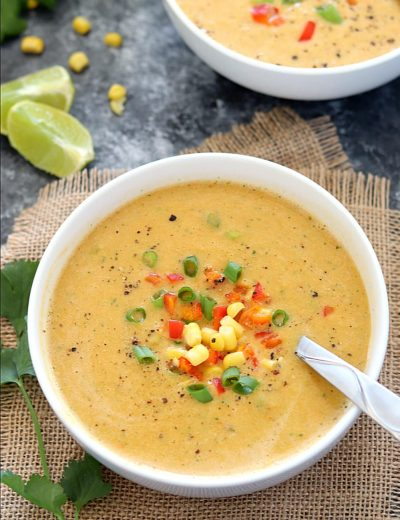 Veggie Mexican Corn Soup