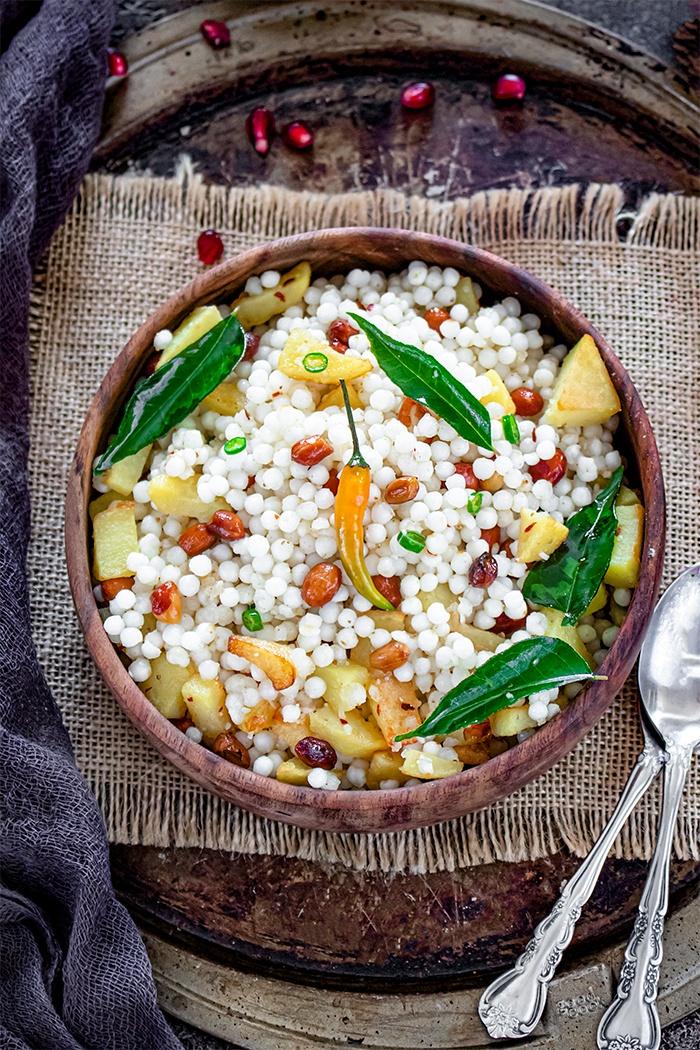 Sabudana Khichdi Recipe in a bowl