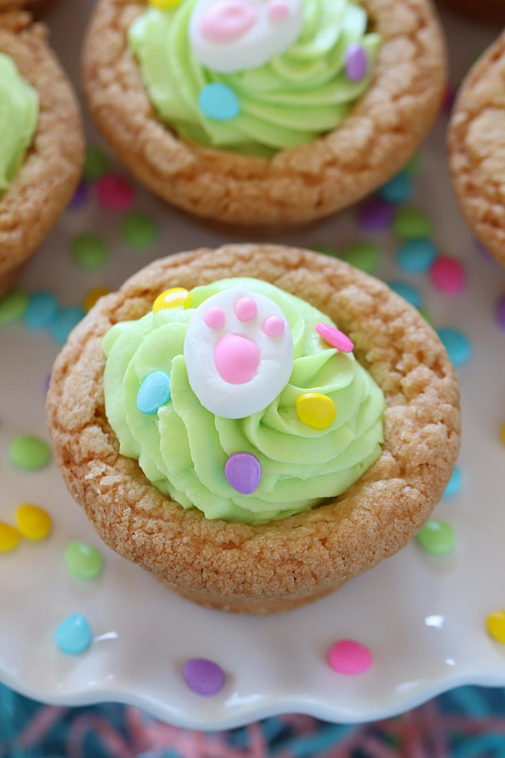 Pistachio Mousse Filled Cookie Cups