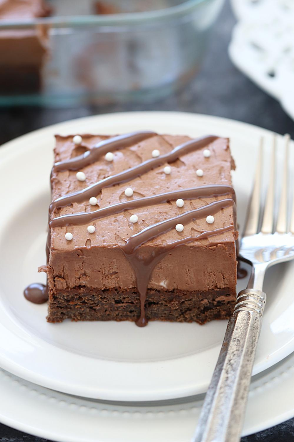 Eggless Chocolate Mousse Brownie