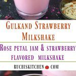 Gulkand Strawberry Milkshake - Ruchiskitchen