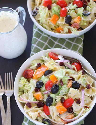 Cranberry Bowtie Pasta Salad